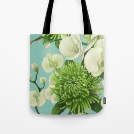 Dahlia flowers painting. Tote Bag