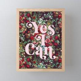Yes I Can Framed Mini Art Print
