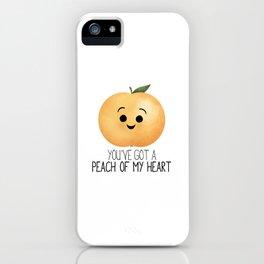 You've Got A Peach Of My Heart iPhone Case