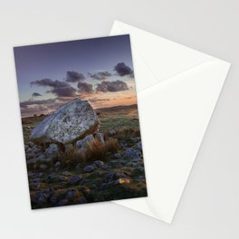 Arthur's stone at sunset Stationery Cards