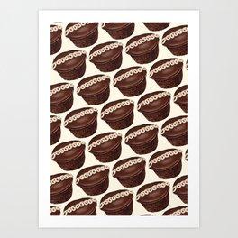 Cupcake Pattern Kunstdrucke