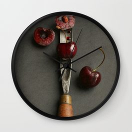 Cherries and Vintage Chisel Wall Clock