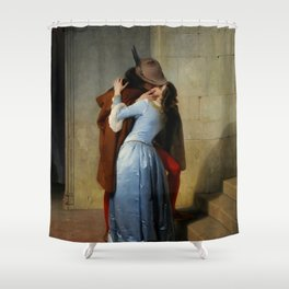 "Francesco Hayez ""The kiss"" Shower Curtain"