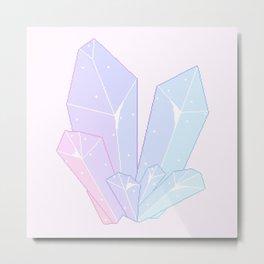 Crystal Fractures Metal Print