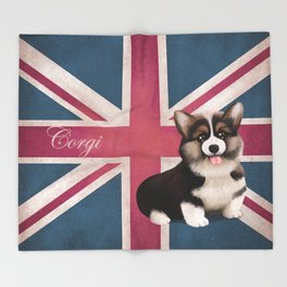 Royal Corgi Baby Throw Blanket