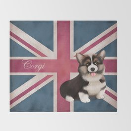 Royal Corgi Baby Throw Blanket