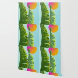 tropical leaves Wallpaper