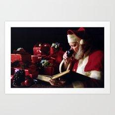 Santa's Book Art Print