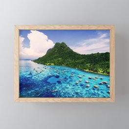 Sea Coral Tropical Island Framed Mini Art Print