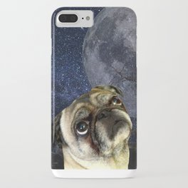 Pug and Moon iPhone Case