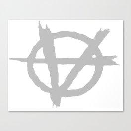 Vagenda Logo - Basic Silver Canvas Print