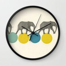 Travelling Elephants Wall Clock