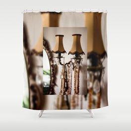 Decorative retro night lamp Shower Curtain