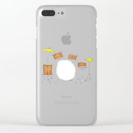 Drums Clear iPhone Case