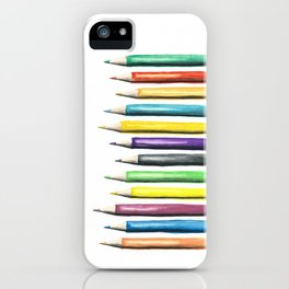 Painted Pencils iPhone Case