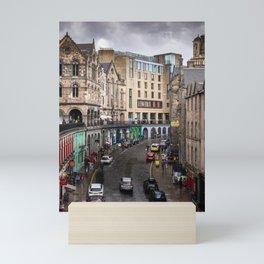 Victoria Street in Edinburgh, Scotland Mini Art Print