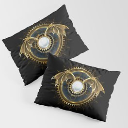 Mechanical Dragon Wings with a Lens ( Steampunk ) Pillow Sham