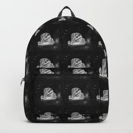 The great scallop pattern white and black Backpack
