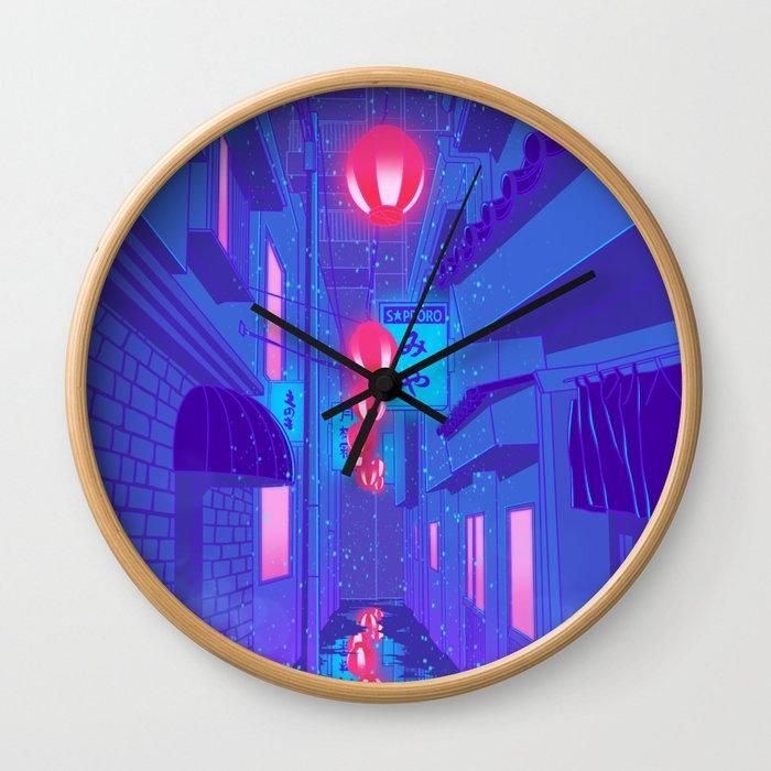 Shibuya Nights Wall Clock
