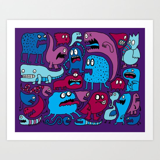 More Monsters Art Print
