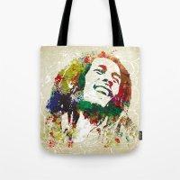 reggae Tote Bags featuring Reggae Music Man by Gary Grayson
