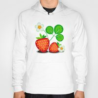 strawberry Hoodies featuring Strawberry by LaDa