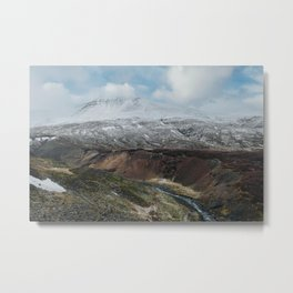 Mountain snow   Winter in Iceland   Landscape photography Metal Print