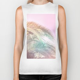 Wild palm leaves Nostalgia Biker Tank