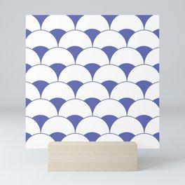 Art Deco Scales Blue Mini Art Print