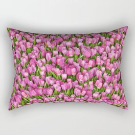 Pink tulips Rectangular Pillow