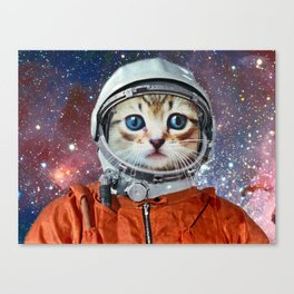 Astronaut Cat #4 Canvas Print