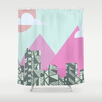 denver Shower Curtains featuring denver by marney cinclair