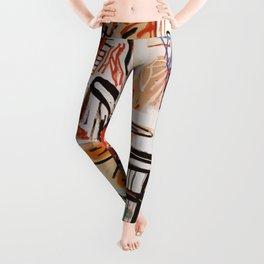 A vectorised Basquiat Leggings