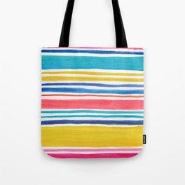 Sunny Day Stripes Tote Bag