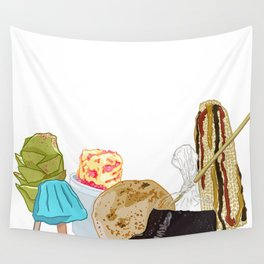 We Dont Do Basic Food Wall Tapestry