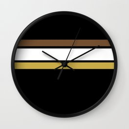 Team Colors 2... caramel, brown Wall Clock
