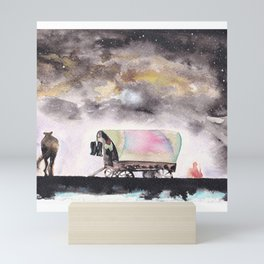 Rising stars above Mini Art Print