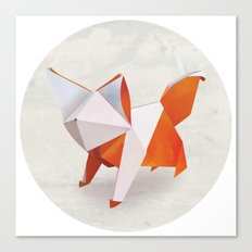 Origami Fox Canvas Print