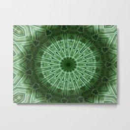 Green Stripes kaleidoscope 1 Metal Print