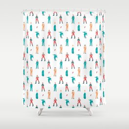 The Land of Bowie Shower Curtain