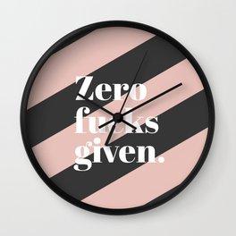Zero F*** Given Wall Clock