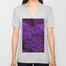 Purple Queen Anne's Lace Landscape Unisex V-Neck