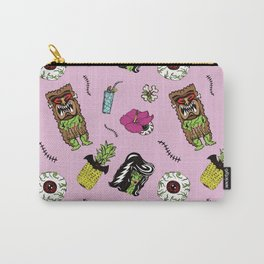 Haunted Psychobilly Luau Toss in Hibiscus Pink Carry-All Pouch