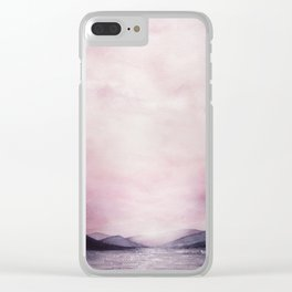 Dusk Watercolor Clear iPhone Case