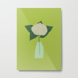 Floral drawing III: white hydrangea Metal Print