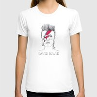 bowie T-shirts featuring Bowie by ☿ cactei ☿