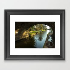 Rock Bridge Shadows  Framed Art Print
