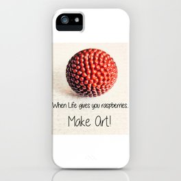 When Life Gives You Raspberries | Nadia Bonello iPhone Case