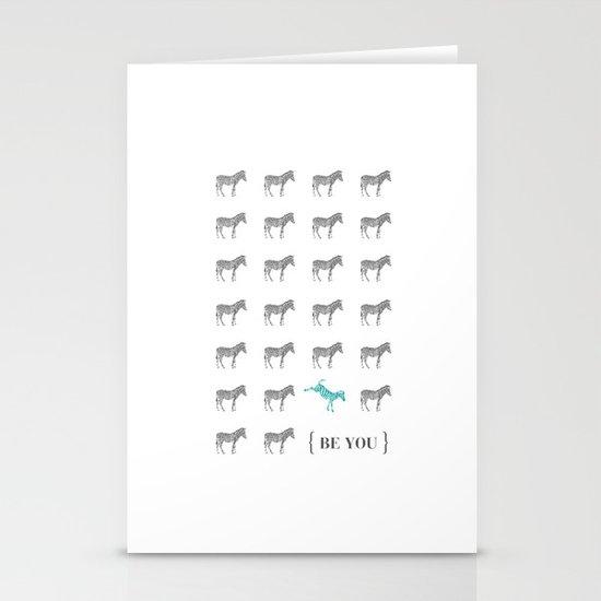 Be You - Zebra Print Stationery Cards