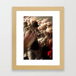 Jazz musician trumpet player Framed Art Print